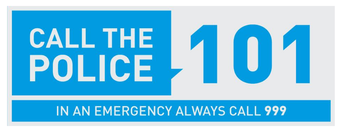 Use the non-emergency number 101 for situations that do not require an immediate police response