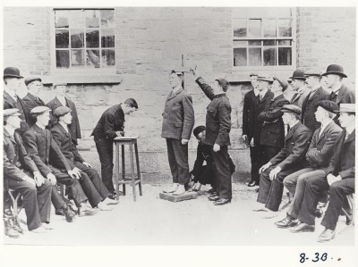 Measuring recruits at the RIC Depot
